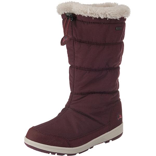 Утепленные сапоги Viking Amber GTXУтепленные<br>Характеристики товара:<br><br>• внешний материал: текстиль, искусственная кожа<br>• внутренний материал: полиэстер (ворс)<br>• стелька: полиэстер (съемная)<br>• подошва: EVA, натуральная резина<br>• сезон: зима<br>• мембранные <br>• температурный режим: от -25 до +5<br>• подошва не скользит<br>• анатомические<br>• высокие<br>• страна бренда: Норвегия<br><br>Высокие мембранные сапоги для детей обеспечат комфорт ногам даже в сильный мороз. Модные сапоги от бренда Viking легко надеваются и обеспечивают ногам тепло. Мембрана позволит создать ногам комфортный климат во время прогулок. Эти сапоги Viking не скользят из-за особого дизайна подошвы.