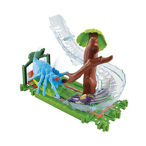 Mattel Автотрек Hot Wheels С монстрами-злодеями Атака паука в парке