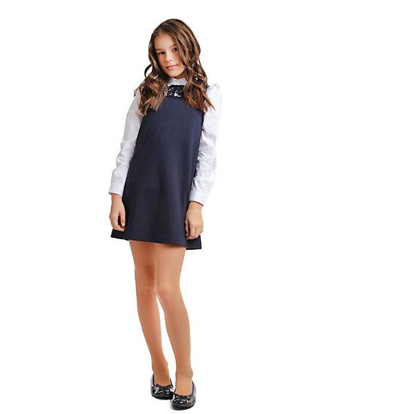 Купить Сарафан S'cool для девочки, Китай, темно-синий, 152, 122, 128, 134, 140, 146, Женский