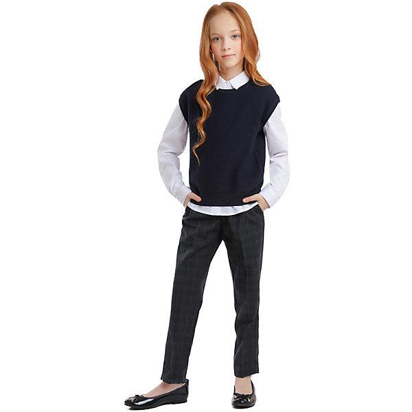 Купить Жилет S'cool для девочки, Китай, темно-синий, 164, 122, 128, 134, 140, 146, 152, 158, Женский