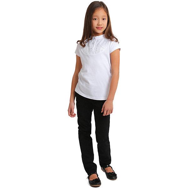 Купить Блузка S'cool для девочки, Китай, белый, 122, 128, 134, 158, 164, 140, 146, 152, Женский