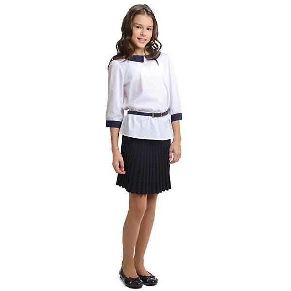 Купить Блузка S'cool для девочки, Китай, темно-синий, 164, 122, 128, 134, 140, 146, 152, 158, Женский