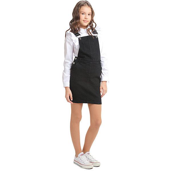 Купить Сарафан S'cool для девочки, Китай, черный, 134, 164, 122, 128, 140, 146, 152, 158, Женский