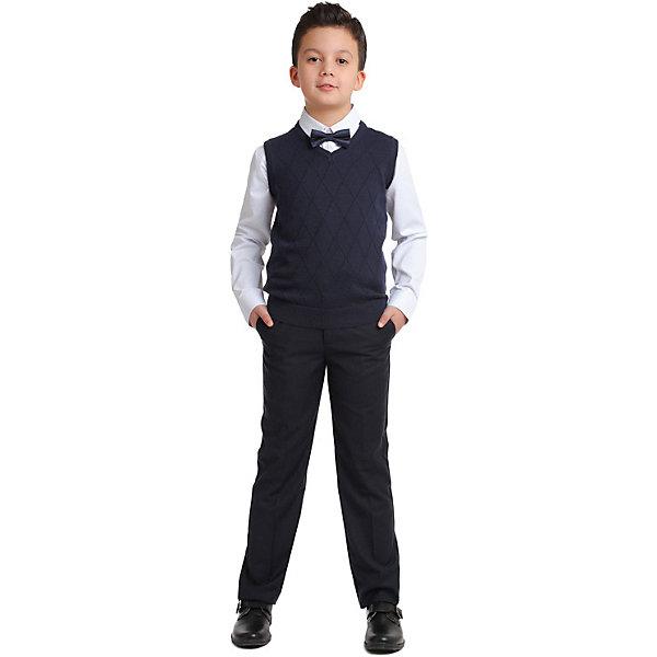Купить Жилет S'cool для мальчика, Китай, темно-синий, 122, 128, 164, 134, 146, 152, 140, 158, Мужской