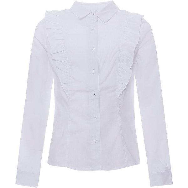Купить Блузка S'cool для девочки, Китай, белый, 134, 122, 128, 152, 158, 140, 164, 146, Женский