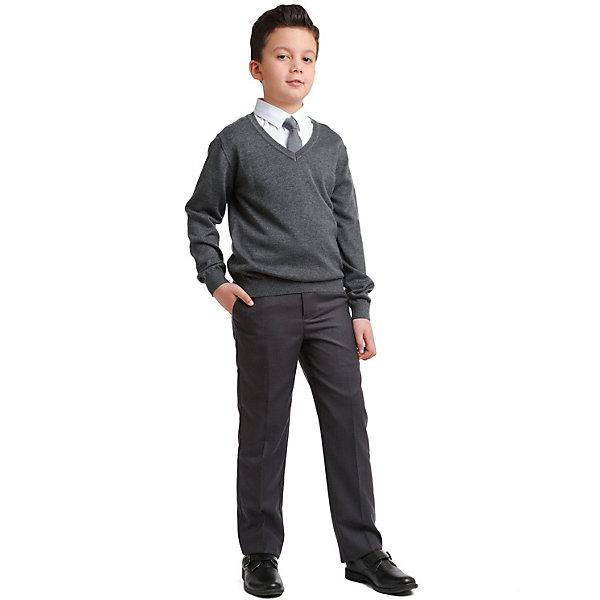 Брюки Scool для мальчикаБрюки<br>Характеристики товара:<br><br>• цвет: серый;<br>• состав: 60% полиэстер, 40% вискоза;<br>• сезон: демисезон;<br>• застёжка: ширинка на молнии и пуговица;<br>• наличие шлёвок для ремня;<br>• внутренняя регулировка талии;<br>• брюки со стрелками;<br>• карманы;<br>• особенности: школьные, классические;<br>• коллекция: Classic;<br>• страна бренда: Германия.<br><br>Школьные брюки Scool для мальчика. Брюки в деловом стиле. Брюки со стрелками, на внутренней стороне пояса предусмотрена регулировка по талии за счет удобной резинки на пуговицах. Модель дополнена встрочными карманами.<br>Ширина мм: 215; Глубина мм: 88; Высота мм: 191; Вес г: 336; Цвет: серый; Возраст от месяцев: 156; Возраст до месяцев: 156; Пол: Мужской; Возраст: Детский; Размер: 158,164,122,128,134,140,146,152; SKU: 8684843;