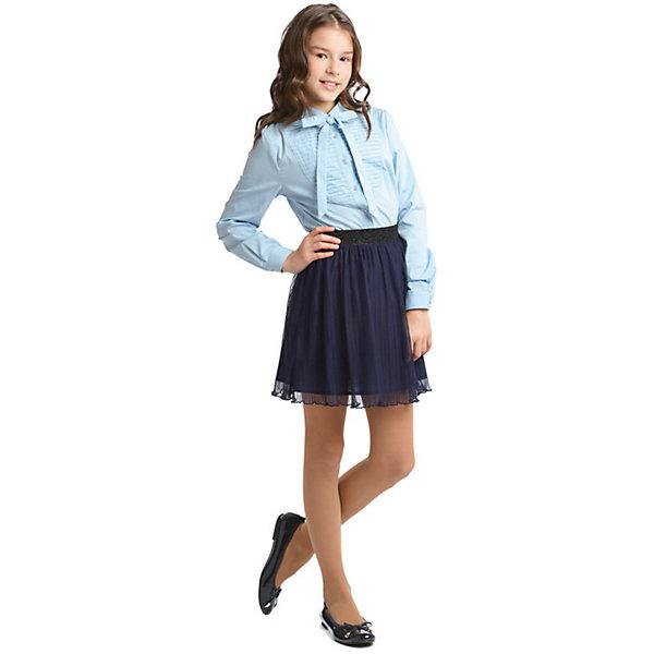 S'cool Блузка S'cool для девочки миграции ветер звезда с питер воротник блузка с длинным рукавом обрезана рукав платье