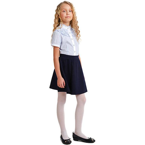 Купить Блузка S'cool для девочки, Китай, голубой, 164, 122, 128, 134, 140, 146, 152, 158, Женский