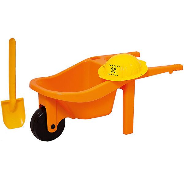 Zebratoys Игровой набор Zebratoys Тачка с каской и лопатой полесье набор игрушек для песочницы тачка садовод с лопатой и граблями цвет желтый