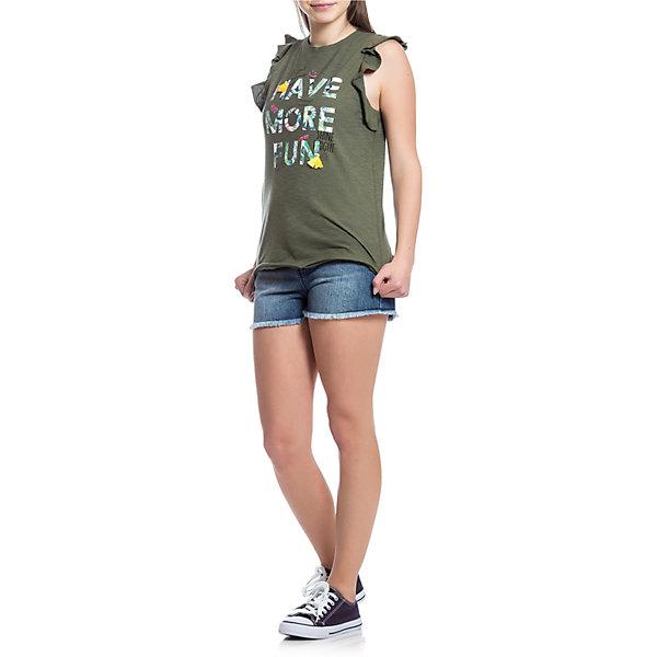 Футболка Original Marines для девочкиФутболки, поло и топы<br>Характеристики товара:<br><br>• цвет: хаки;<br>• состав ткани: 100% хлопок;<br>• сезон: лето;<br>• короткие рукава;<br>• страна бренда: Италия.<br><br>Вещи цвета хаки сейчас в тренде, как и эта стильная детская футболка от итальянского бренда Original Marines. Эта футболка для детей украшена оригинальным принтом с надписью. Хлопковая футболка для ребенка обеспечит удобство благодаря мягкому и дышащему материалу - хлопковому трикотажу.<br>Ширина мм: 199; Глубина мм: 10; Высота мм: 161; Вес г: 151; Цвет: хаки; Возраст от месяцев: 192; Возраст до месяцев: 192; Пол: Женский; Возраст: Детский; Размер: 170,152,164; SKU: 8687895;