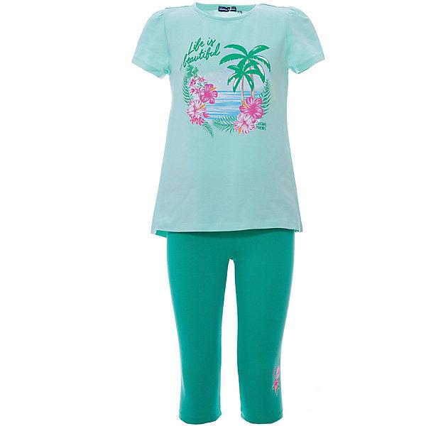 Купить Комплект :футболка, леггинсы Original Marines для девочки, Бангладеш, зеленый, 128, 152, 140, Женский