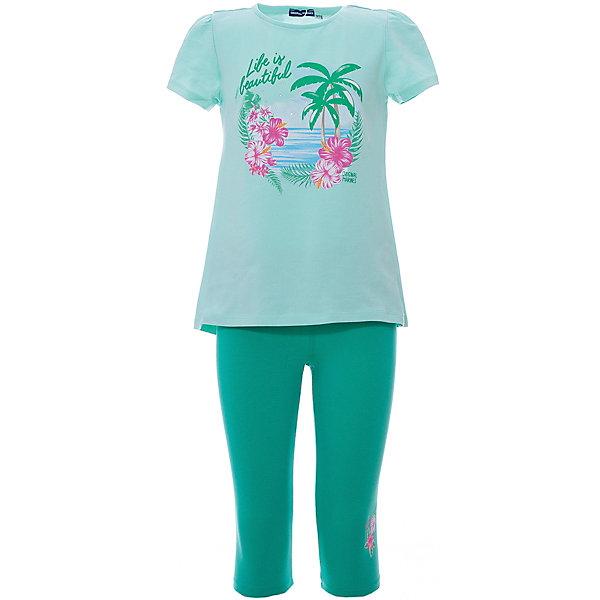Купить Комплект :футболка, леггинсы Original Marines для девочки, Бангладеш, зеленый, 104, 92, 116, Женский