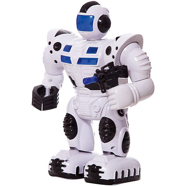 Купить Робот, эл/мех, со светом и звуком, с подвижными руками и ногами, в коробке, 29, 5х22, 3х13, 3 см ShantouGepai, Shantou Gepai, Китай, синий/белый, Мужской