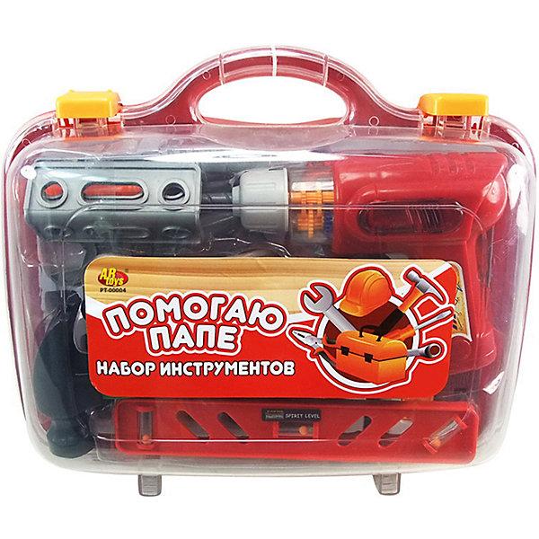 ABtoys Набор инструментов ABtoys Помогаю Папе В чемодане, 26 предметов ролевые игры veld co набор инструментов с дрелью в чемодане