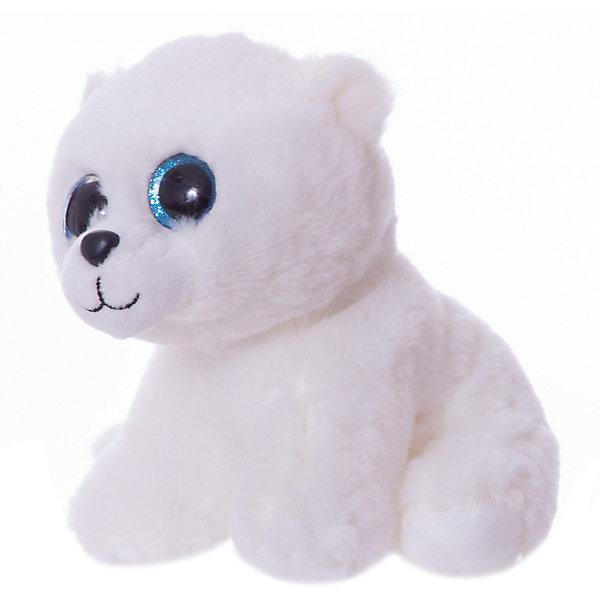 ABtoys Мягкая игрушка ABtoys Полярный медвежонок , 15 см мягкая игрушка abtoys единорог с серебряными копытами ушками и рогом m096 белый 15 см