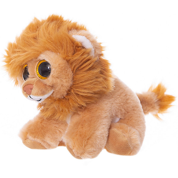Купить Мягкая игрушка ABtoys Львёнок, 15 см, Мягкая игрушка ABtoys Львёнок коричневый, Китай, Унисекс