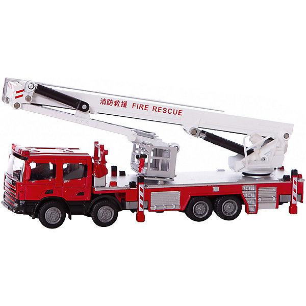 ABtoys Машинка ABtoys Спецтехника Пожарная машина, 1:50 игрушка abtoys спецтехника c 00140 6807a 1 22 30 см