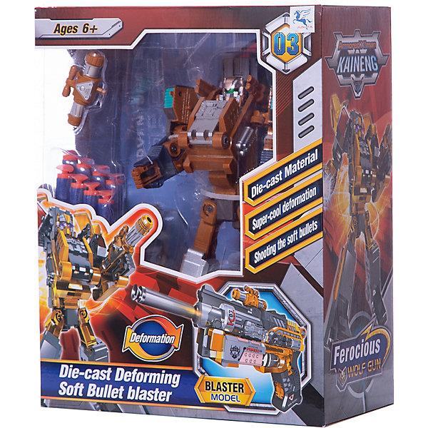 Купить Робот-бластер 2 в 1 ShantouGepai Deformation Свирепый волк, 8 зарядов, Shantou Gepai, Китай, серый/оранжевый, Мужской