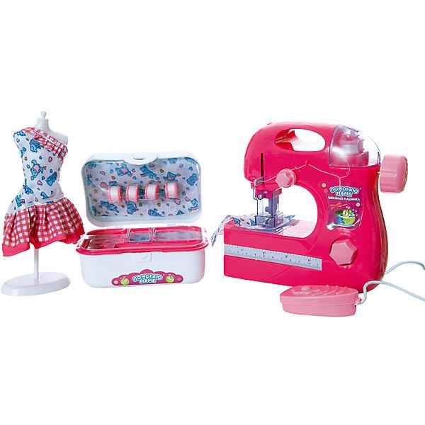 Купить Помогаю Маме. Швейная машинка, эл/мех, в наборе с аксессуарами, в коробке, 48х9, 9х23, 1 см Abtoys, Китай, разноцветный, Женский