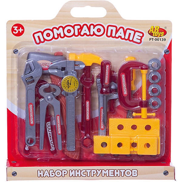 ABtoys Набор инструментов ABtoys Помогаю Папе Ремонтник abtoys помогаю папе 27 предметов в чемодане pt 00270