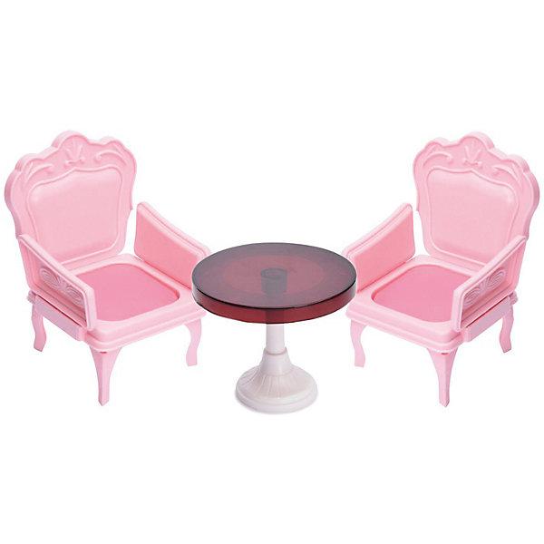 Мебель для куклы Огонёк Кресла со столиком, розовыеМебель для кукол<br>Характеристики товара: <br><br>• возраст: от 3 лет;<br>• цвет: розовый, белый, коричневый;<br>• комплект: 2 кресла, столик;<br>• из чего сделана игрушка (состав): пластмасса;<br>• размер упаковки: 20х7х20 см.;<br>• вес: 187 гр;<br>• упаковка: картонная коробка.<br><br>Мебель для куклы «Кресла со столиком» способен понравиться любителям увлекательных сюжетно-ролевых игр. <br><br>Набор включает в себя три предмета: куклы смогут комфортно расположиться в креслах, а за столом будет удобно обедать. Вся кукольная мебель из данного комплекта выполнена в изящном стиле, а также выглядит весьма реалистично, благодаря чему игра с куколками будет очень насыщенной и динамичной.<br>Ширина мм: 200; Глубина мм: 70; Высота мм: 200; Вес г: 187; Цвет: разноцветный; Возраст от месяцев: 36; Возраст до месяцев: 120; Пол: Женский; Возраст: Детский; SKU: 8688419;
