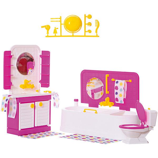 Огонек Мебель для куклы Огонёк Зефир Ванная комната