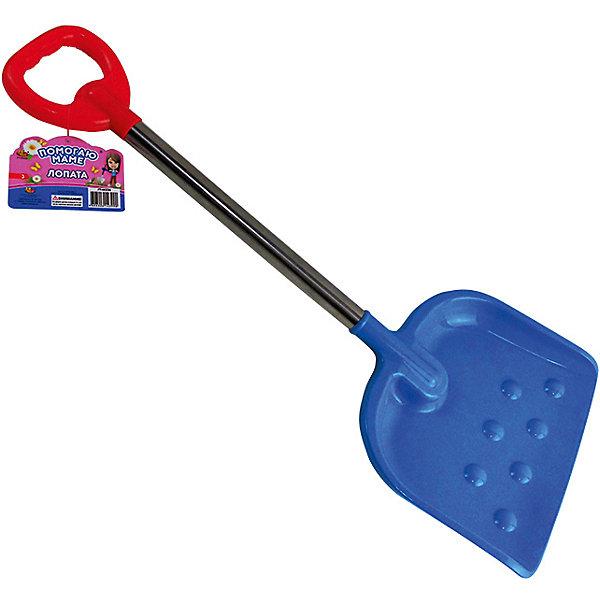 ABtoys Лопата пластмассовая ABtoys с металлическим черенком, 70,5 см лопата туристическая с деревянным черенком