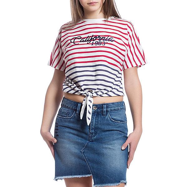 Футболка Original Marines для девочкиФутболки, поло и топы<br>Характеристики товара:<br><br>• пол: девочка;<br>• цвет: красно-синяя полоска;<br>• состав ткани: 100% хлопок;<br>• сезон: лето;<br>• короткие рукава;<br>• страна бренда: Италия.<br><br>Полосатая футболка для детей отлично сочетается с различным низом - можно создать модный и комфортный наряд в теплую погоду. Такая футболка для детей оригинально смотрится благодаря особому крою. Хлопковая футболка для ребенка обеспечит удобство благодаря мягкому и дышащему материалу. Детская футболка от итальянского бренда Original Marines - универсальная основа для множества стильных нарядов.