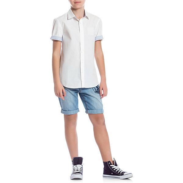 Сорочка Original Marines для мальчикаБлузки и рубашки<br>Характеристики товара:<br><br>• пол: мальчик;<br>• цвет: белый;<br>• состав ткани: 100% хлопок;<br>• сезон: лето;<br>• особенности модели: школьная;<br>• застежка: пуговицы;<br>• короткие рукава;<br>• страна бренда: Италия.<br><br>Белая сорочка для детей от итальянского бренда Original Marines - это универсальный вариант одежды для лета. Эта сорочка для детей отлично сочетается с различными шортами и брюками - можно создать наряд в и демократичном стиле и более строгий. Хлопковая рубашка для ребенка обеспечит удобство благодаря легкому и дышащему материалу. Детская сорочка - классического силуэта, аккуратный низ изделия позволяет надевать его навыпуск. <br><br>Футболку Original Marines (Ориджинал Маринс) для мальчика можно купить в нашем интернет-магазине.