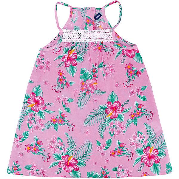 Платье Original Marines для девочкиПлатья и сарафаны<br>Характеристики товара:<br><br>• пол: девочка;<br>• состав ткани: 100% район;<br>• сезон: лето;<br>• застежка: пуговицы;<br>• без рукавов; <br>• страна бренда: Италия.<br><br>Цветочный принт очень актуален в наступающем сезоне - это платье для девочек от итальянского бренда Original Marines следует последним тенденциям мировой моды. Легкое платье для девочки - свободного силуэта, сзади - кнопки. Цвет и дизайн детского платья отлично подходит для ношения каждый день, но также подойдет для торжественных случаев. Платье для ребенка сделано из легкого качественного материала - он отлично подходит для ношения в теплую погоду.<br>Ширина мм: 236; Глубина мм: 16; Высота мм: 184; Вес г: 177; Цвет: розовый; Возраст от месяцев: 72; Возраст до месяцев: 84; Пол: Женский; Возраст: Детский; Размер: 116,92,104; SKU: 8688605;
