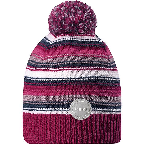 Шапка Hurmos ReimaШапки и шарфы<br>Характеристики товара:<br><br>• состав: 100% шерсть <br>• подкладка: 100% полиэстер, флис <br>• утеплитель: 40 г/м2 <br>• сезон: зима <br>• ветронепроницаемые вставки в области ушей <br>• сплошная подкладка: мягкий теплый флис <br>• шапка с помпоном <br>• логотип Reima® сзади <br>• страна бренда: Финляндия<br><br>Шапка для малышей и детей постарше изготовлена из дышащей и теплой мериносовой шерсти. Мягкая флисовая подкладка гарантирует тепло, а ветронепроницаемые вставки между верхним слоем и подкладкой защищают уши. Помпон на макушке.