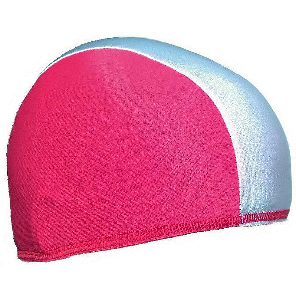 Купить Шапочка для плавания Спортивные мастерские, бело-розовая, Россия, розовый/белый, Женский
