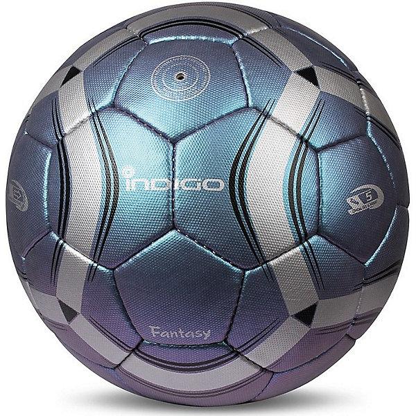 Мяч футбольный INDIGO FanyasyМячи детские<br>Характеристики:<br><br>• возраст: от 3 лет;<br>• категория мячей: матчевый<br>• количество панелей: 32;<br>• количество подкладочных слоев: 3;<br>• диаметр: 68-70 см;<br>• тип соединения панелей: сшитый;<br>• материал: полиуретан;<br>• камера: латекс;<br>• размер: 5;<br>• вес: 430 гр;<br>• бренд: Indigo<br><br>Рекомендован для игры при любых погодных условиях. Полиуретан (ПУ), из которого сделан мяч - это синтетическая кожа, которая особенно крепкая и долговечная, на ощупь похожа на натуральную.<br>Тип соединения: ручная сшивка.<br>Ширина мм: 250; Глубина мм: 250; Высота мм: 125; Вес г: 430; Цвет: разноцветный; Возраст от месяцев: 36; Возраст до месяцев: 1188; Пол: Унисекс; Возраст: Детский; SKU: 8690004;