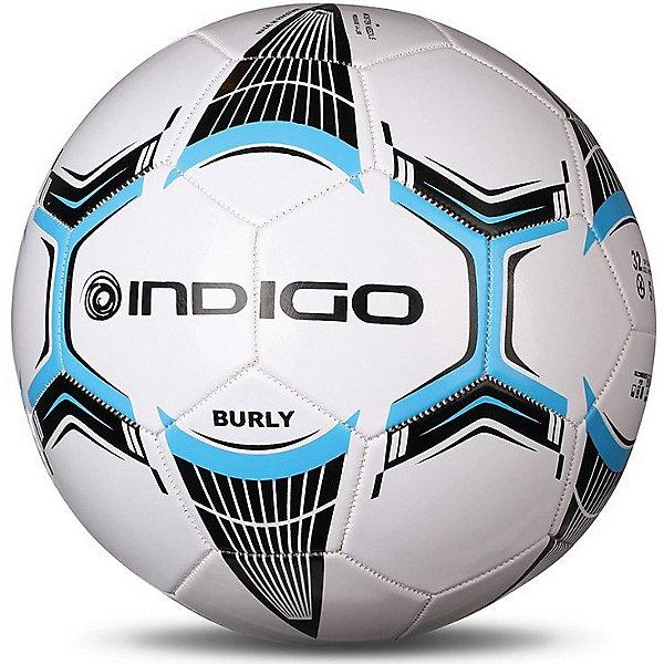 Мяч футбольный INDIGO Burly №5Мячи детские<br>Характеристики:<br><br>• возраст: от 3 лет;<br>• количество панелей: 32;<br>• количество подкладочных слоев: 3;<br>• диаметр: 68 см;<br>• тип соединения панелей: сшитый;<br>• материал: ПВХ;<br>• размер: 5;<br>• вес: 330 гр;<br>• бренд: Indigo<br><br>Всепогодный футбольный мяч Burly рекомендован для тренировок на траве. Подходит для тренировок игроков любого уровня подготовки. Изготовлен из износостойкого материала ПВХ и рассчитан на долгий срок службы.<br>Ширина мм: 250; Глубина мм: 250; Высота мм: 125; Вес г: 330; Цвет: разноцветный; Возраст от месяцев: 36; Возраст до месяцев: 1188; Пол: Унисекс; Возраст: Детский; SKU: 8690016;