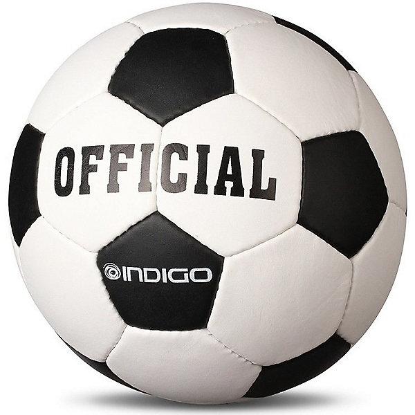 INDIGO Мяч футбольный INDIGO Official №5 мяч для пилатеса и аэробики indigo диаметр 25 см