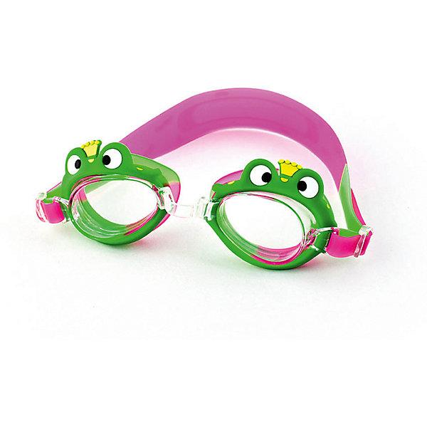 Очки для плавания INDIGO Лягушка, зелёно-розовыеПлавательные принадлежности<br>Характеристики:<br><br>• возраст: от 3 лет;<br>• линзы: поликарбонат, Antifog (предотвращает запотевание линз очков, обеспечивает отличный обзор)<br>• регулируемая переносица<br>• оправа: силикон<br>• ремешок: силикон<br>• вес: 100 гр;<br>• бренд:  Indigo<br><br>Симпатичные детские очки Лягушка порадуют любого начинающего пловца. Для того, чтобы человек видел нормально (а не мутно) в воде, между глазом и водой должна быть воздушная прослойка. Именно такую прослойку и создают очки для плавания - один из обязательных элементов экипировки пловца.<br>Ширина мм: 150; Глубина мм: 45; Высота мм: 45; Вес г: 100; Цвет: разноцветный; Возраст от месяцев: 36; Возраст до месяцев: 168; Пол: Женский; Возраст: Детский; SKU: 8690026;