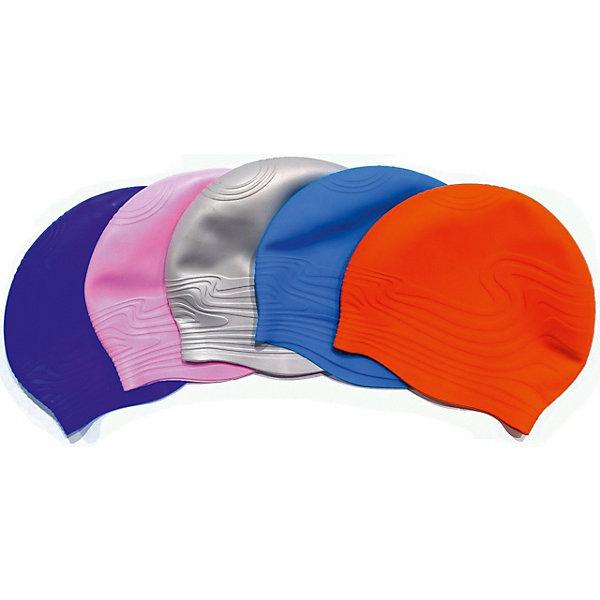 INDIGO Шапочка для плавания INDIGO Волна, синяя шапочка для плавания arena polyester  цвет  темно синий