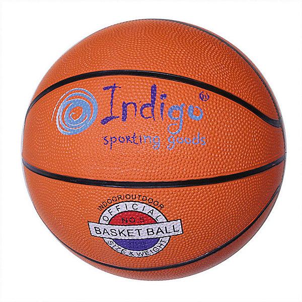 INDIGO Мяч баскетбольный INDIGO № 6 мяч для пилатеса и аэробики indigo диаметр 25 см