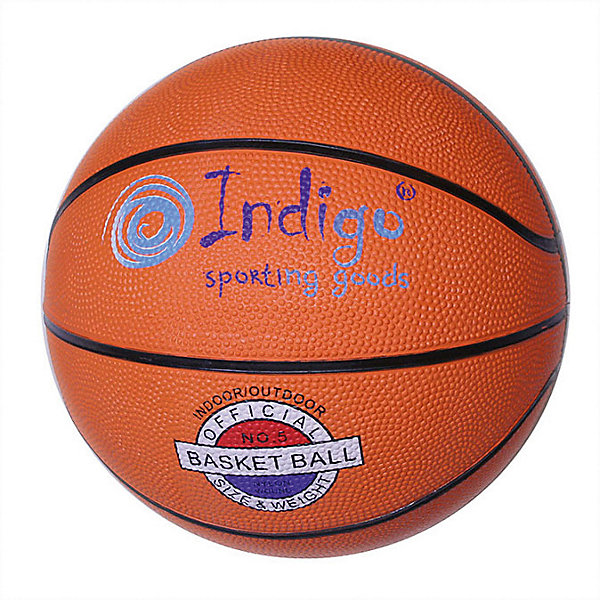 INDIGO Мяч баскетбольный INDIGO № 5 мяч для пилатеса и аэробики indigo диаметр 25 см