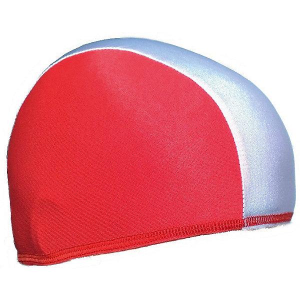 Спортивные мастерские Шапочка для плавания Спортивные мастерские, бело-красная маска для плавания tusa visio tri ex цвет черный красный