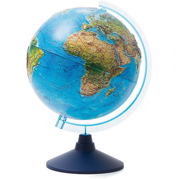 Globen Глобус Земли Globen, ландшафтный рельефный, 250мм. глобус земли ландшафтный рельефный на треугольнике с подсветкой диаметр 210 мм
