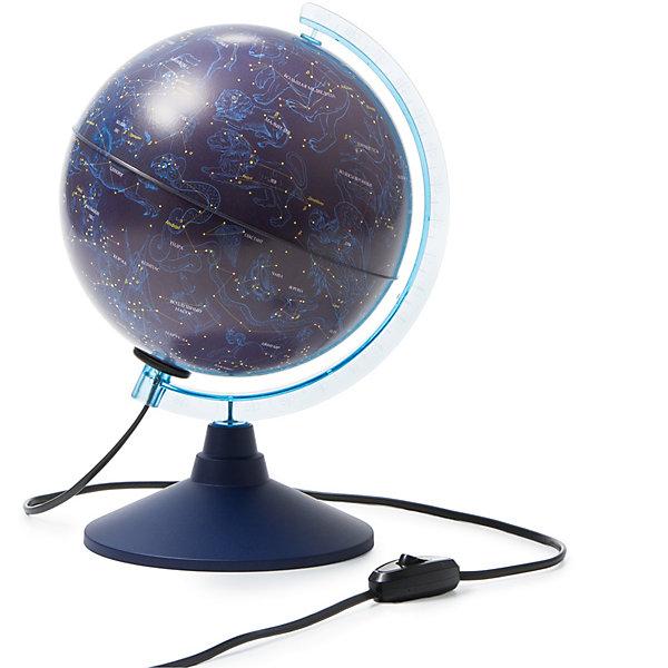 Глобус Звездного неба Globen, с подсветкой, 210мм.Глобусы<br>Характеристики:<br><br>• тип глобуса: карта звездного неба;<br>• особенности: с подсветкой;<br>• диаметр: 21 см;<br>• наглядное пособие при изучении астрономии;<br>• подробная карта глобуса;<br>• актуальная информация;<br>• для детей от 6 лет;<br>• материал: пластик;<br>• упаковка: фирменный пакет и цветная подарочная коробка;<br>• размер упаковки: 22х22х25 см;<br>• вес: 700 г.<br><br>Глобус звездного неба с подсветкой содержит в себе информацию о созвездиях и планетах, является наглядным пособием при изучении астрономии. Глобус на круглой подставке устойчиво стоит на горизонтальной поверхности. Глобус изготовлен из пластика. Сделано в России.<br>Ширина мм: 220; Глубина мм: 220; Высота мм: 250; Вес г: 700; Цвет: разноцветный; Возраст от месяцев: 72; Возраст до месяцев: 1188; Пол: Унисекс; Возраст: Детский; SKU: 8690511;