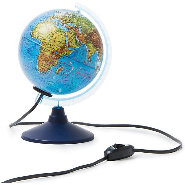 Глобус Земли Globen, физический, с подсветкой, 150 мм.Глобусы<br>Характеристики:<br><br>• тип глобуса: физический;<br>• особенности: с подсветкой<br>• диаметр: 15 см;<br>• наглядное пособие при изучении географии;<br>• подробная карта глобуса;<br>• актуальная информация;<br>• для детей от 6 лет;<br>• материал: пластик;<br>• упаковка: фирменный пакет и цветная подарочная коробка;<br>• размер упаковки: 16,5х18х16,5 см;<br>• вес: 320 г.<br><br>Глобус Земли позволяет изучить и рассмотреть страны мира, их взаимное расположение. Географические данные четкие и понятные, глобус земли является универсальным наглядным пособием для их изучения. Подробная и актуальная карта глобуса, Крым в составе РФ. Сделано в России.<br>Ширина мм: 165; Глубина мм: 180; Высота мм: 165; Вес г: 320; Цвет: разноцветный; Возраст от месяцев: 72; Возраст до месяцев: 1188; Пол: Унисекс; Возраст: Детский; SKU: 8690517;
