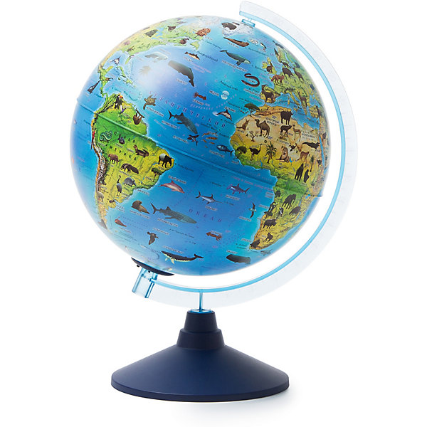 Globen Глобус Зоогеографический Globen, с подсветкой от батареек, 250мм.