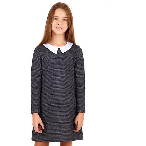 Платье Апрель для девочкиПлатья и сарафаны<br>Характеристики товара:<br><br>• цвет: серый<br>• пол: девочка<br>• состав ткани: 95% хлопок, 5% лайкра<br>• сезон: круглый год<br>• с длинным рукавом;<br>• особенности: школьная<br><br>Трикотажное платье школьное Апрель с круглым вырезом и отложным воротником, длинными рукавами. Застегивается на молнию на спинке. Девочке будет удобно и комфортно в школе в таком стильном платье от российского бренда Апрель.<br>Ширина мм: 236; Глубина мм: 16; Высота мм: 184; Вес г: 177; Цвет: разноцветный; Возраст от месяцев: 108; Возраст до месяцев: 120; Пол: Женский; Возраст: Детский; Размер: 134,146,140,128; SKU: 8692556;
