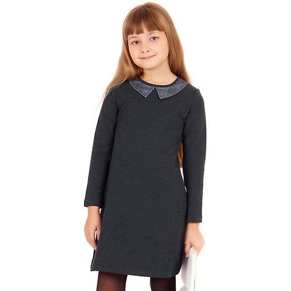 Платье Апрель для девочкиПлатья и сарафаны<br>Характеристики товара:<br><br>• цвет: серый<br>• пол: девочка<br>• состав ткани: 95% хлопок, 5% лайкра<br>• сезон: круглый год<br>• с длинным рукавом;<br>• особенности: школьная<br><br>Трикотажное платье школьное Апрель с круглым вырезом и отложным воротником, длинными рукавами. Застегивается на молнию на спинке. Девочке будет удобно и комфортно в школе в таком стильном платье от российского бренда Апрель.<br>Ширина мм: 236; Глубина мм: 16; Высота мм: 184; Вес г: 177; Цвет: серый; Возраст от месяцев: 108; Возраст до месяцев: 120; Пол: Женский; Возраст: Детский; Размер: 134,128,122,146,140; SKU: 8692558;