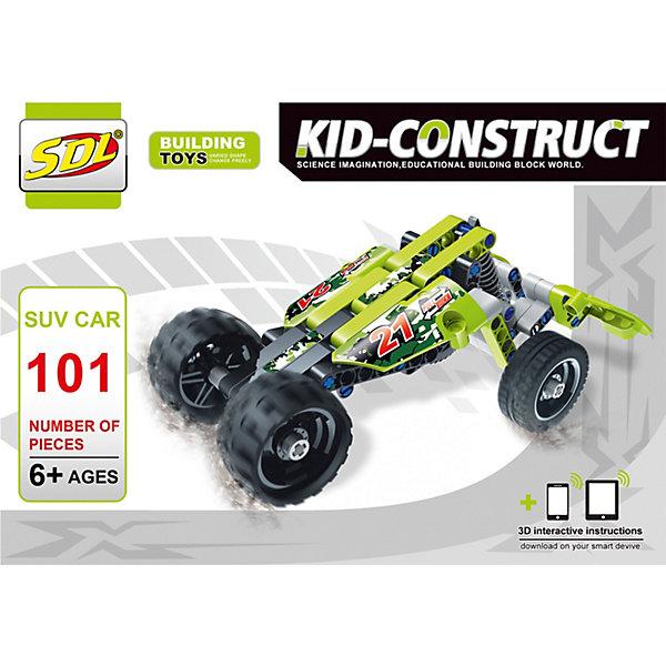 SDL 3D-Конструктор SDL Kid-Construct Кроссовер зелёный, 101 деталь 3d конструктор green planet голова снежного барана кв зеленый