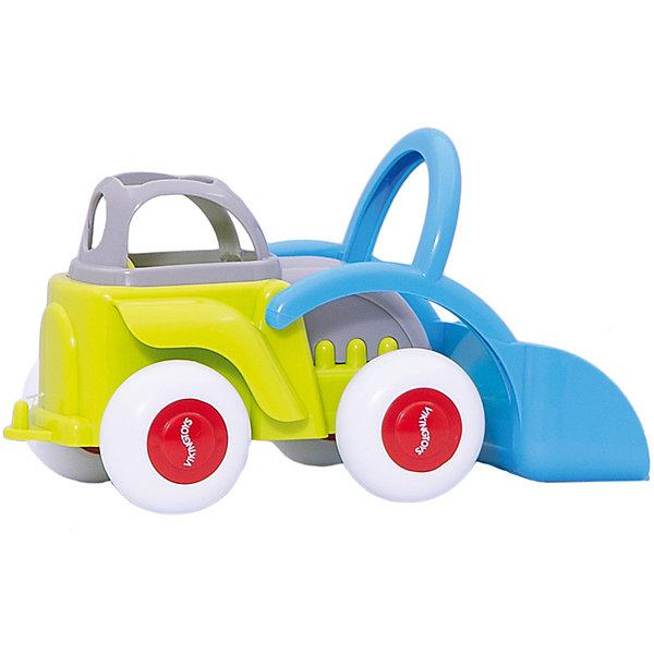 Viking Toys Машинка Viking Toys Fun Color Трактор с ковшом, 21 см игровые коврики viking toys сумка коврик город с 2 машинками 90х70 см