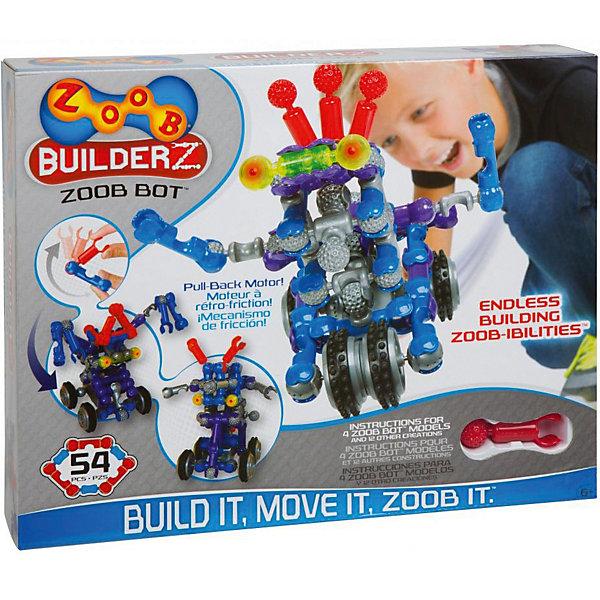 Zoob Конструктор ZOOB Builder-Z Zoob Bot Building Set, 50 деталей zoob конструктор zoob racer z car designer 76 деталей