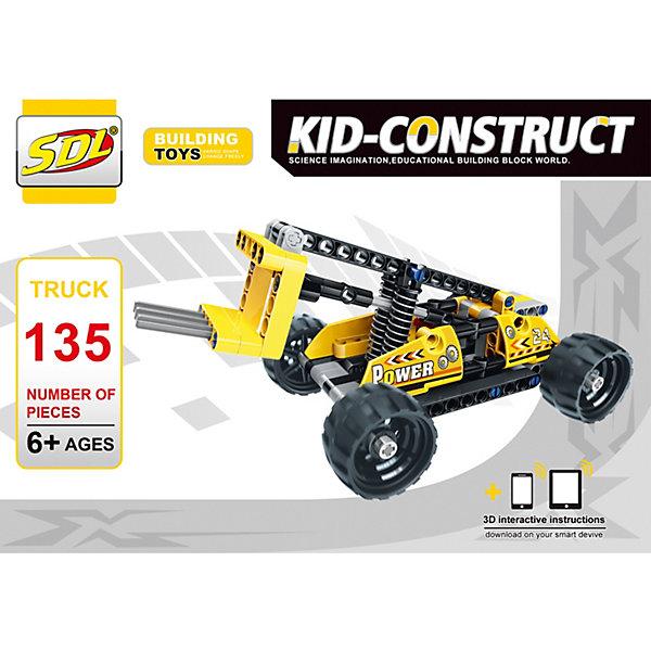 SDL 3D-Конструктор Kid-Construct Погрузчик, 135 деталей